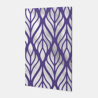 Thumbnail image of Ultraviolet Floral Pattern Canvas, Live Heroes