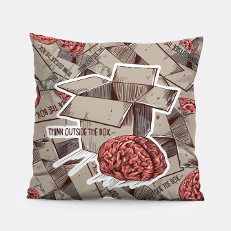 Think Outside The Box Pillow Bild der Miniatur
