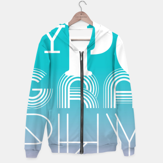 Thumbnail image of TYPOGRAPHY Hoodie, Live Heroes