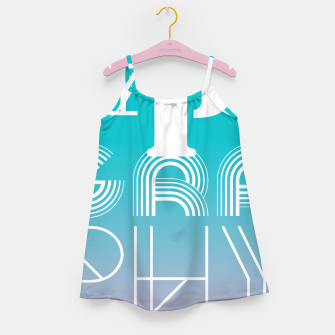Thumbnail image of TYPOGRAPHY Girl's Dress, Live Heroes