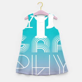 Thumbnail image of TYPOGRAPHY Girl's Summer Dress, Live Heroes