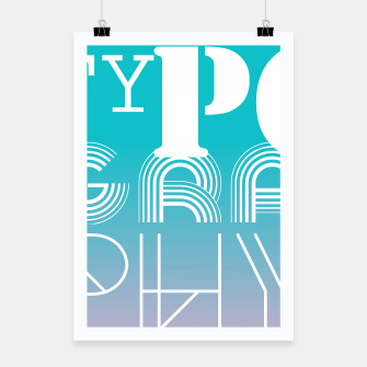 Thumbnail image of TYPOGRAPHY Poster, Live Heroes