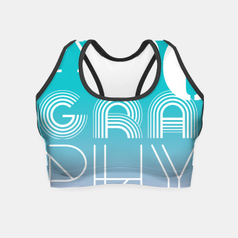 Thumbnail image of TYPOGRAPHY Crop Top, Live Heroes