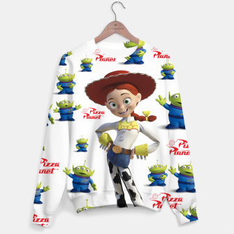 Thumbnail image of pizza planet toy story alien Sweater, Live Heroes