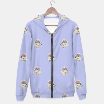 Thumbnail image of Monster Rats Hand Draw Illustration Pattern Hoodie, Live Heroes