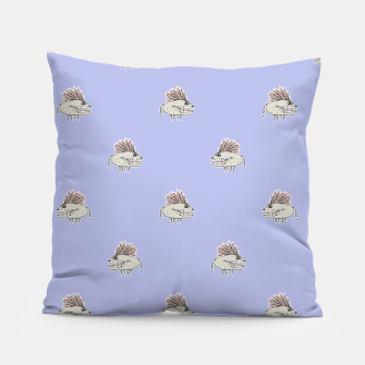 Thumbnail image of Monster Rats Hand Draw Illustration Pattern Pillow, Live Heroes