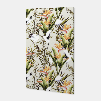 Miniature de image de Crane among bird of paradise Canvas, Live Heroes