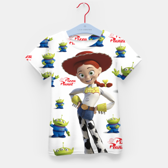 Thumbnail image of pizza planet toy story alien Kid's T-shirt, Live Heroes