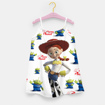 Thumbnail image of pizza planet toy story alien Girl's Dress, Live Heroes