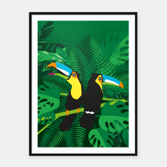 Tropical toucans –  Framed poster thumbnail image