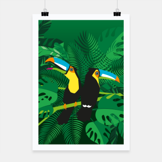 Thumbnail image of Tropical toucans –  Poster, Live Heroes