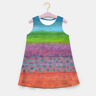Miniatur Remains on the Landscape Girl's Summer Dress, Live Heroes