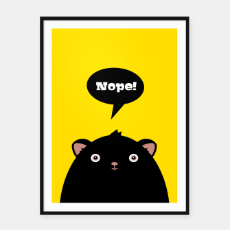 Nope monster –  Framed poster thumbnail image
