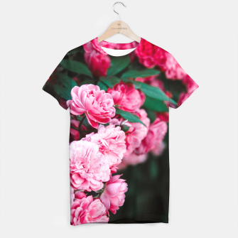 Miniatur Flowers grow out of dark moments T-shirt, Live Heroes