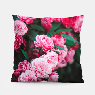 Miniatur Flowers grow out of dark moments  Pillow, Live Heroes