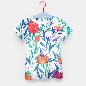 Thumbnail image of Vibrant Floral Kid's T-shirt, Live Heroes