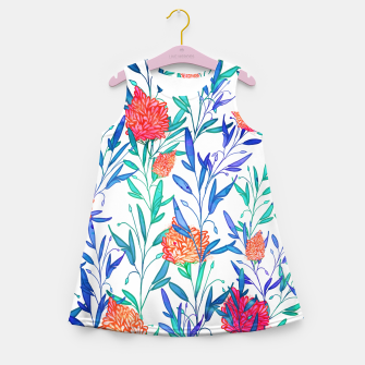 Thumbnail image of Vibrant Floral Girl's Summer Dress, Live Heroes