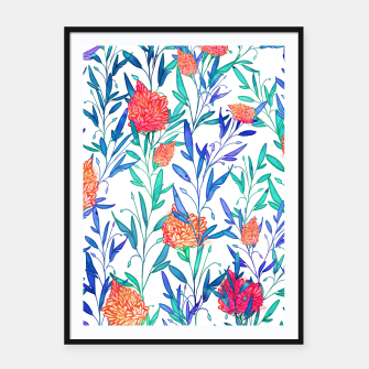 Thumbnail image of Vibrant Floral Framed poster, Live Heroes