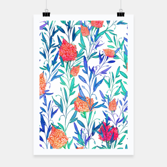 Thumbnail image of Vibrant Floral Poster, Live Heroes
