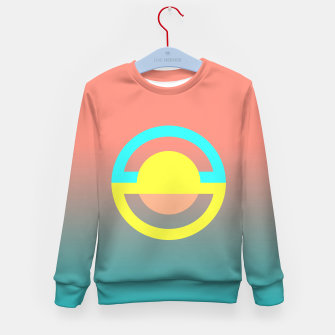 Thumbnail image of geometry is simple Kid's Sweater, Live Heroes