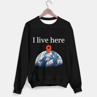 Thumbnail image of I live here earth Sweater regular, Live Heroes