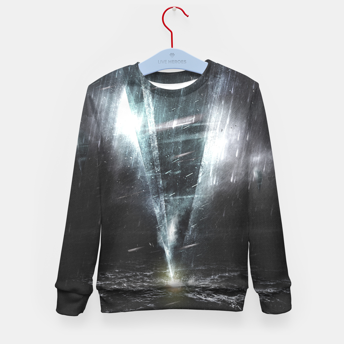 Image of We come in peace Kid's Sweater - Live Heroes