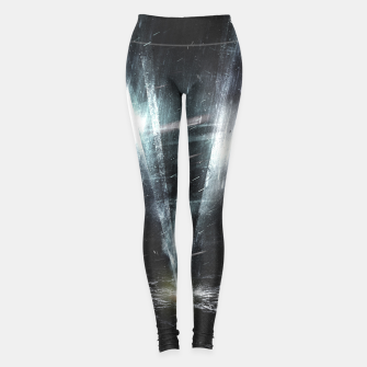Thumbnail image of We come in peace Leggings, Live Heroes