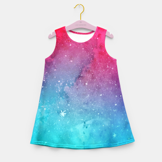 Miniatur Polarlight Galaxy Girl's Summer Dress, Live Heroes