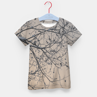 Miniaturka Snowy branches Kid's T-shirt, Live Heroes
