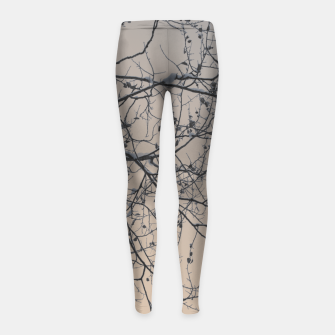 Miniaturka Snowy branches Girl's Leggings, Live Heroes