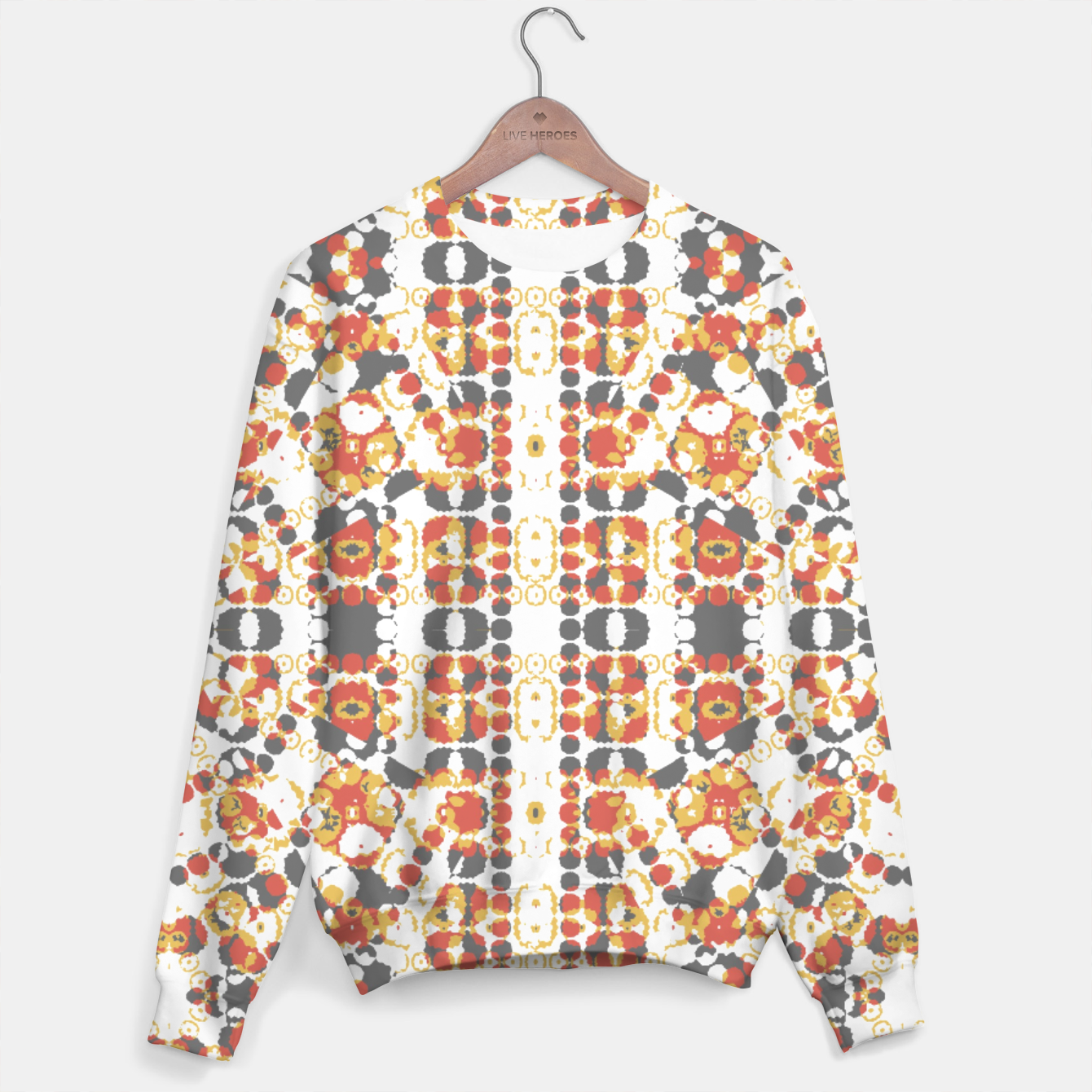 Image of Multicolored Geometric Pattern  Sweater - Live Heroes
