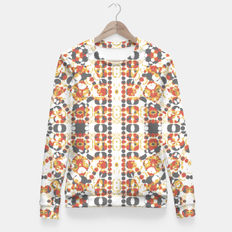 Multicolored Geometric Pattern  Fitted Waist Sweater thumbnail image