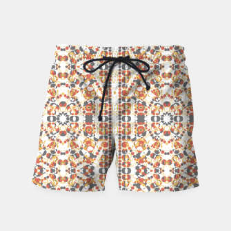Multicolored Geometric Pattern  Swim Shorts thumbnail image