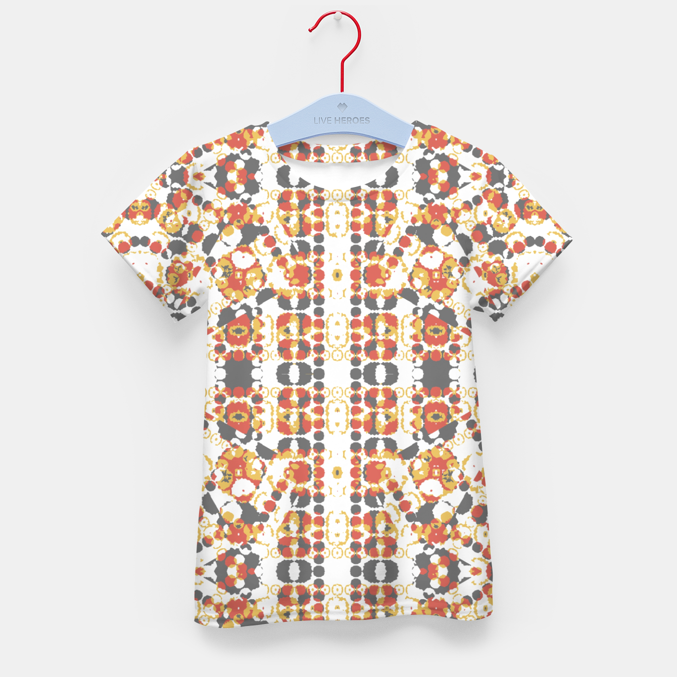 Image of Multicolored Geometric Pattern  Kid's T-shirt - Live Heroes