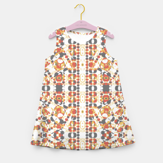 Multicolored Geometric Pattern  Girl's Summer Dress thumbnail image