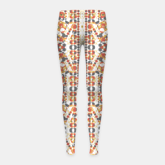 Multicolored Geometric Pattern  Girl's Leggings thumbnail image