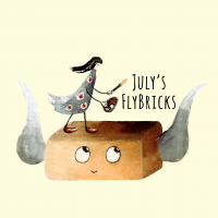 July's FlyBricks Illustrations logo, Live Heroes