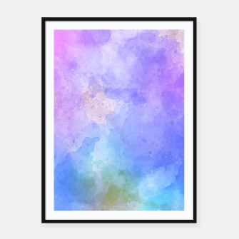 Thumbnail image of Artistc backdrop with splashes of colour Framed poster, Live Heroes