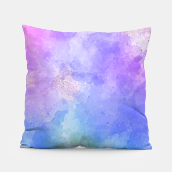 Thumbnail image of Artistc backdrop with splashes of colour Pillow, Live Heroes