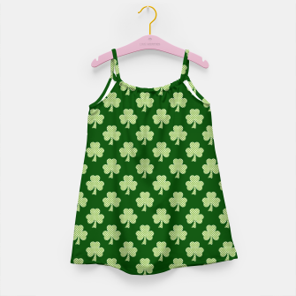 Thumbnail image of Shamrock Clover Polka dots St. Patrick's Day green pattern Girl's Dress, Live Heroes