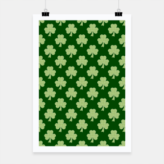 Thumbnail image of Shamrock Clover Polka dots St. Patrick's Day green pattern Poster, Live Heroes