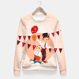 Thumbnail image of Circus clowns –  Fitted Waist Sweater, Live Heroes