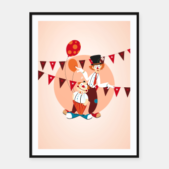 Thumbnail image of Circus clowns –  Framed poster, Live Heroes