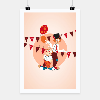 Thumbnail image of Circus clowns –  Poster, Live Heroes