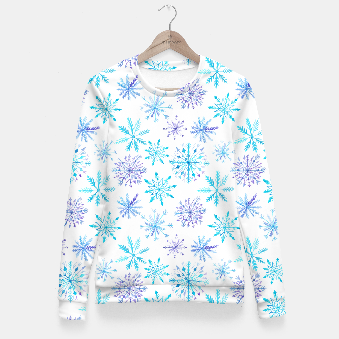 Zdjęcie Snowflakes Fitted Waist Sweater - Live Heroes