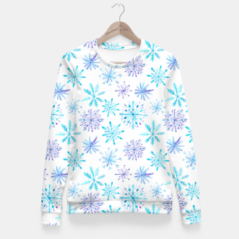 Snowflakes Fitted Waist Sweater obraz miniatury