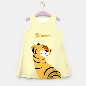 Be brave tiger – Girl's Summer Dress thumbnail image