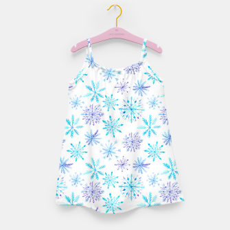 Snowflakes Girl's Dress obraz miniatury