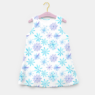 Snowflakes Girl's Summer Dress obraz miniatury