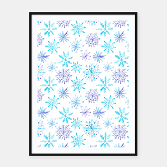 Snowflakes Framed poster thumbnail image